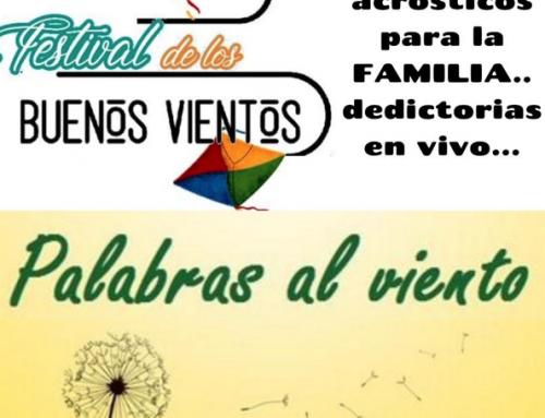 PALABRAS AL VIENTO- ULTIMA INSCRIPCIÓN HASTA EL 2 DE SEPTIEMBRE